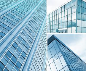 Background of square windows of skyscraper