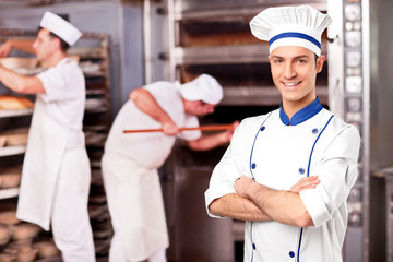 Portrait of a chef standing