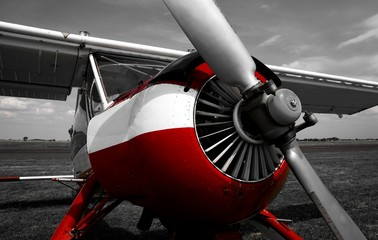 Wall Murals Red, black, white plane