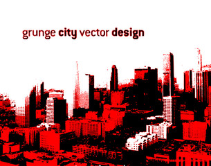 grunge style city design (Vector)