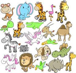 Animal Wildlife Vector Design Elements Set