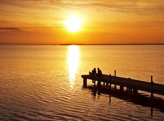 Foto op Textielframe Pier amor en el lago