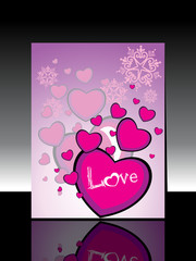 abstract heart shape concept design greeting card for new year c