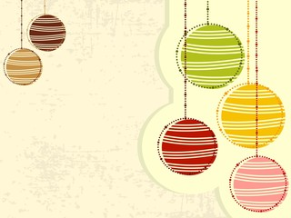 Christmas grungy background in colorful ball with decorations. v