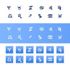 Handdrawn zodiac signs