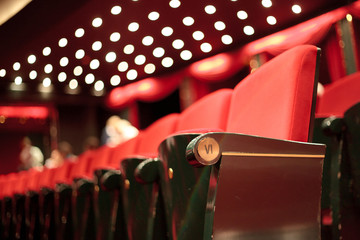 Photo sur Plexiglas Opera, Theatre theater seats