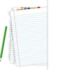 Blank document and pencil.
