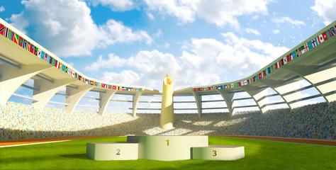Olympic Stadium with podium