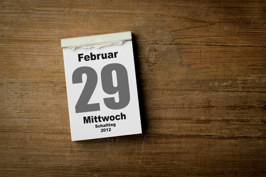 29 Februar Schalttag