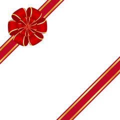 Red rosette bow