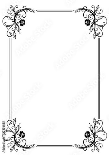 rahmen ranke flora blumen rosen schwarz stockfotos und lizenzfreie vektoren auf fotolia. Black Bedroom Furniture Sets. Home Design Ideas