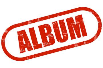 Grunge Stempel rot ALBUM