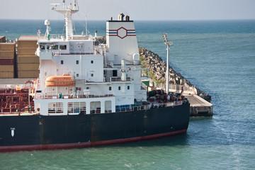 tanker à quai