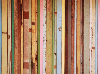 candy color wood wall background