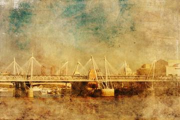 Fotomurales - Charing Cross bridge im Antikstil