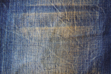 Highly detailed texture - abstract blue jeans background