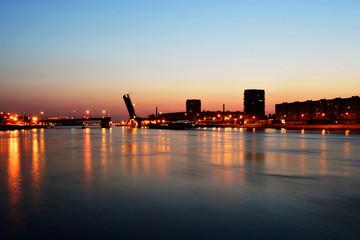 Neva river and Volodarsky bridge , St.Petersburg