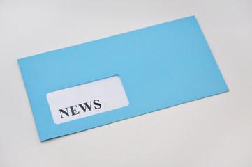 News erhalten im Briefumschlag