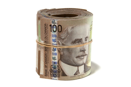 Rolled money - Canadian Dollars