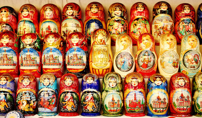 Nesting dolls for tourists