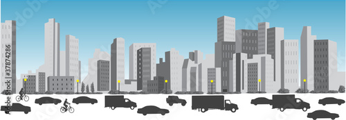 Wall mural TOURS ET TRAFIC