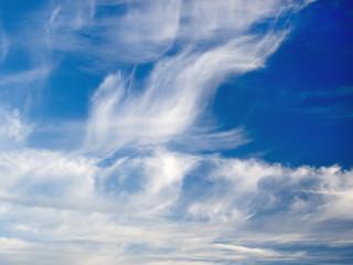 The cloudy sky