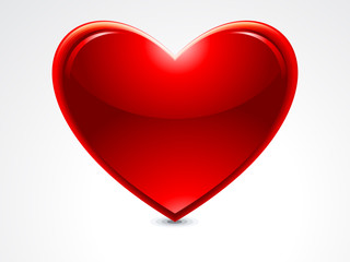 ABSTRACT GLOSSY HEART