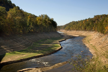 Little Tennessee River during severe drought
