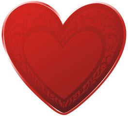 red ornate heart