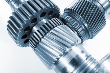 titanium gears against white background
