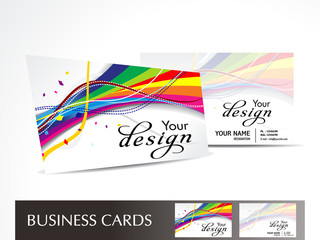 Acrylic Prints Abstract wave abstract colorful wave business card