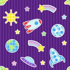 Garden Poster Cosmos Seamless space pattern