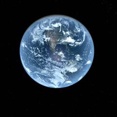 3d Earth Model in deep space