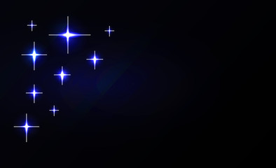 Vector abstract stars background