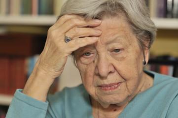 Portrait of Sad Senior Woman 2