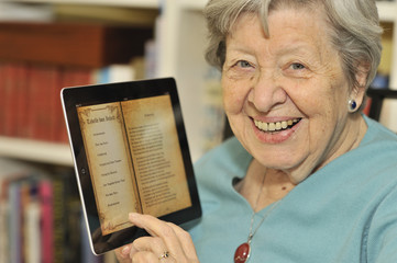 Senior Woman with Tablet PC 1
