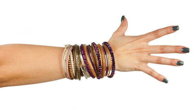 woman hand with bracelets