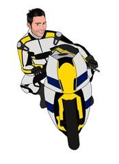 Keuken foto achterwand Motorfiets Moto da corsa vettoriale
