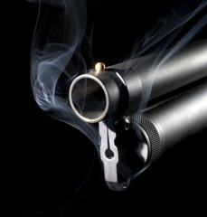 Smoky shotgun