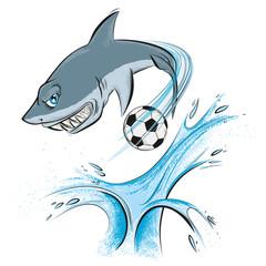 shark sport mascot (eps 10)