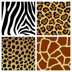 set of animal fur textures