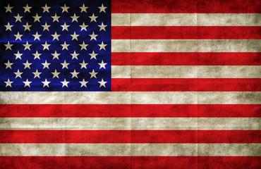 american flag on grunge paper