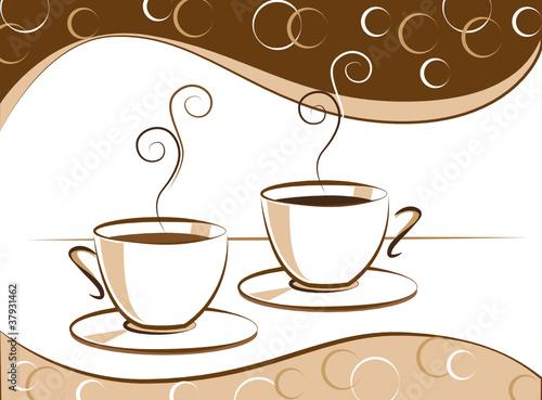 zwei kaffeetassen stockfotos und lizenzfreie vektoren. Black Bedroom Furniture Sets. Home Design Ideas