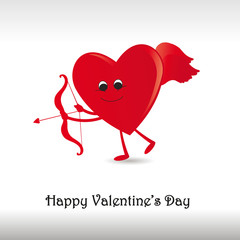 Card on valentine's day