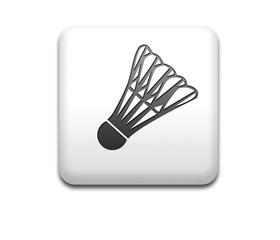 Boton cuadrado blanco simbolo badminton
