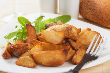Roasted potato wedges