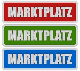 3 Sticker rgb MARKTPLATZ