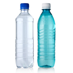 two bottles with water