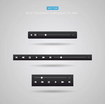 Set of audio players for web