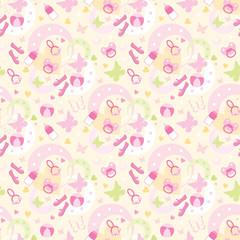 Seamless children's things pattern